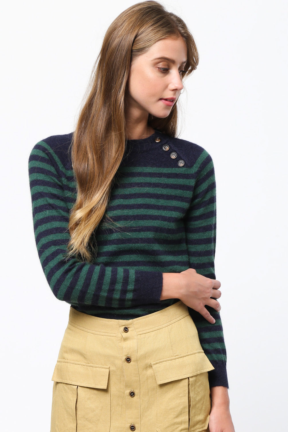Sophia Classic Striped Sweater
