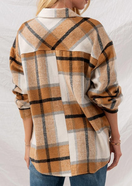 Paula Plaid Soft Brushed Shirt Jacket