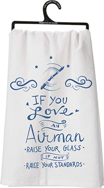 If You Love an Airman Decorative Tea Towel
