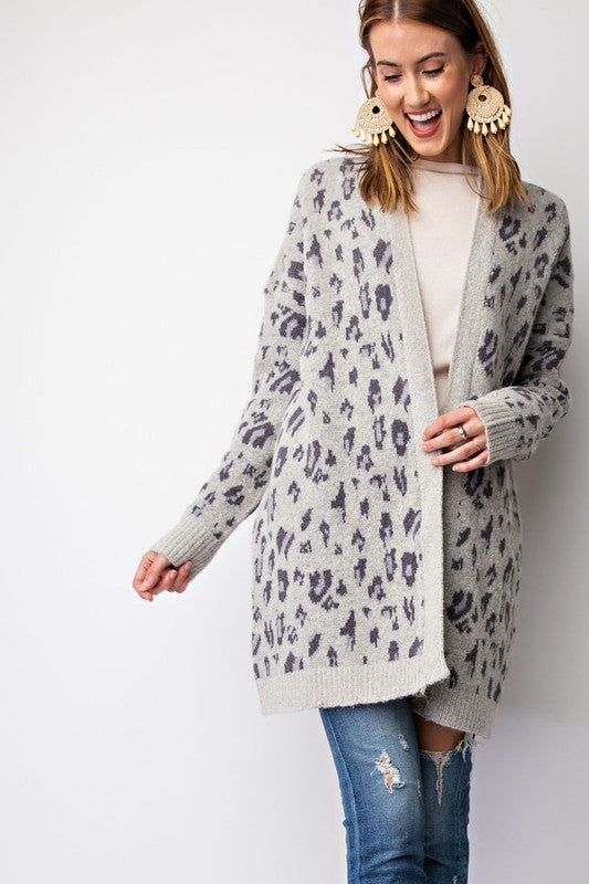 Lauren Leopard Pattern Cardigan Sweater