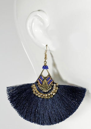 Cleo Fan Tassel Earrings