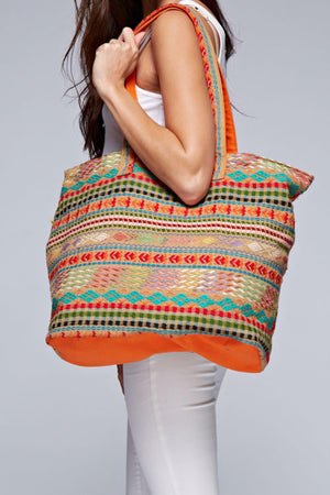 Curtina Jacquard Printed Tote Bag by Love Stitch