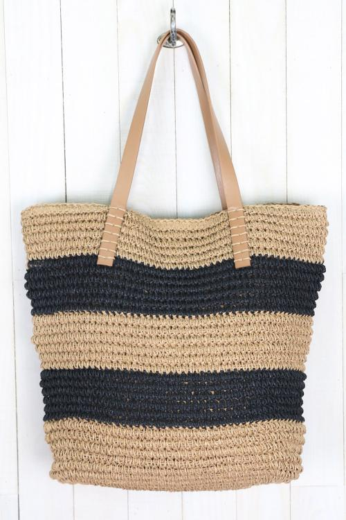 Lydia Hand Woven Crochet Tote Bag by Love Stitch