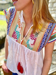 Eloise Embroidered Babydoll Top