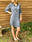 Melody Mineral Wash Shirt Dress