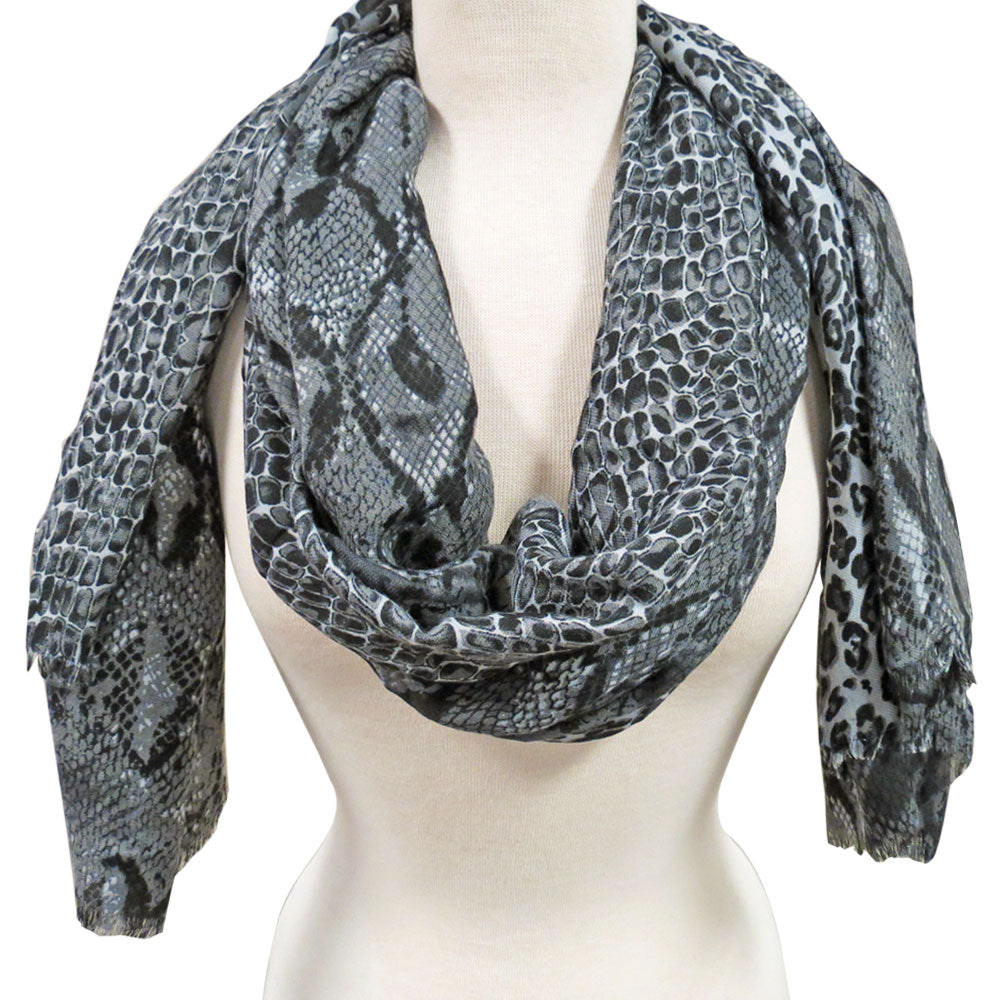 Animal Print Scarf in Gray