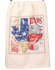 Texas Housewarming Gift Dish Towel