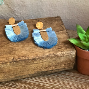 Fanny Blue Tassel Earrings