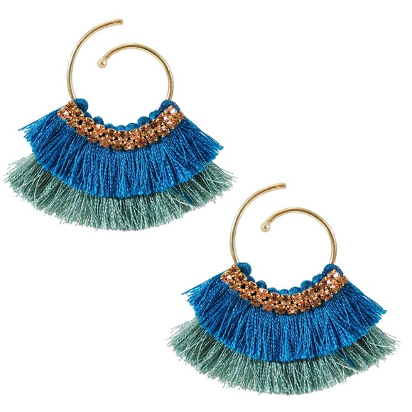 Ocean Breeze Double Tassel Earrings