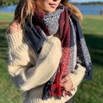 Red, White & Blue Wrap Scarf ~FINAL SALE!