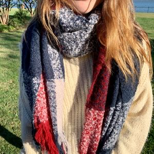 Red, White & Blue Wrap Scarf