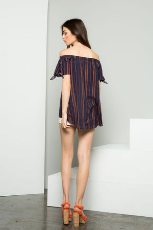 THML Gracie Off-the-Shoulder Embroidered Top