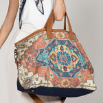 Boho Embroidered Weekender Travel Bag