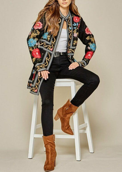Forget Me Not Embroidered Jacket by Savanna Jane