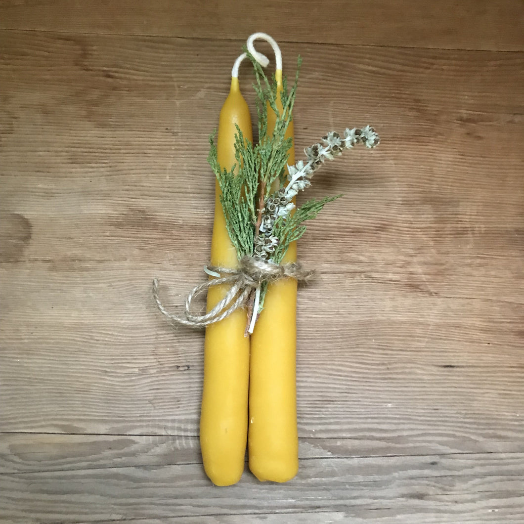 Hand Dipped Beeswax Candle set