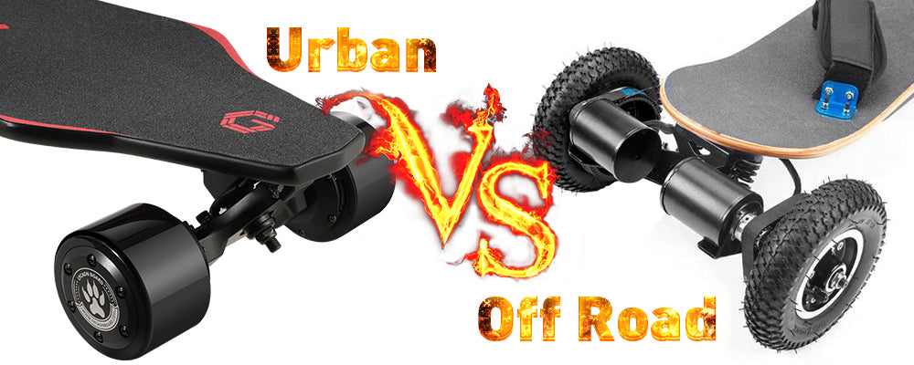 urban e-skateboard and off road electric skateboard