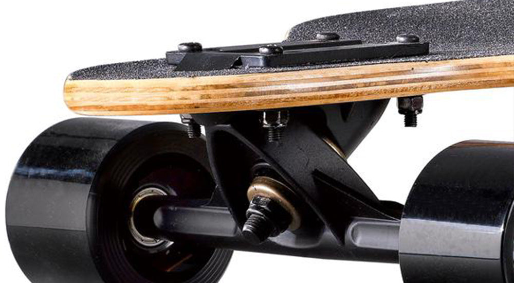 A black Drop-through Electric Skateboard