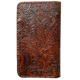 Paisley Embossed Leather Wallet With Phone Magnet