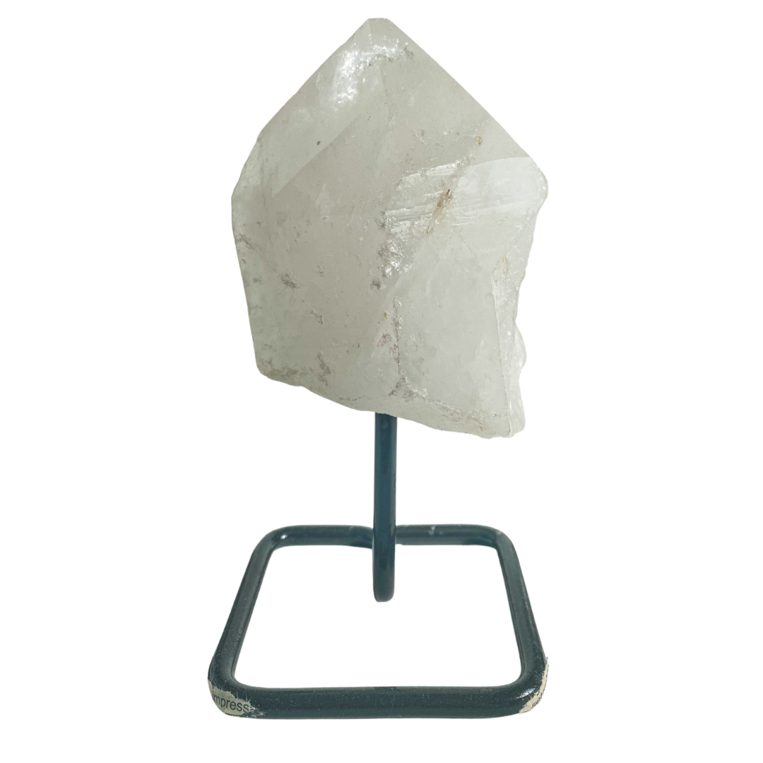 Quartz Crystal on Metal Stand Home Decor