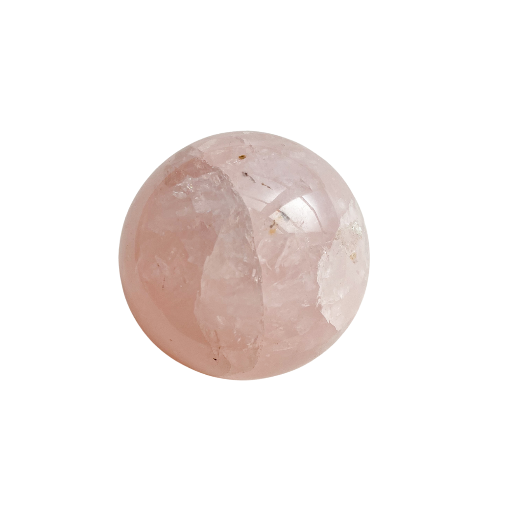 Polished Rose Quartz Sphere
