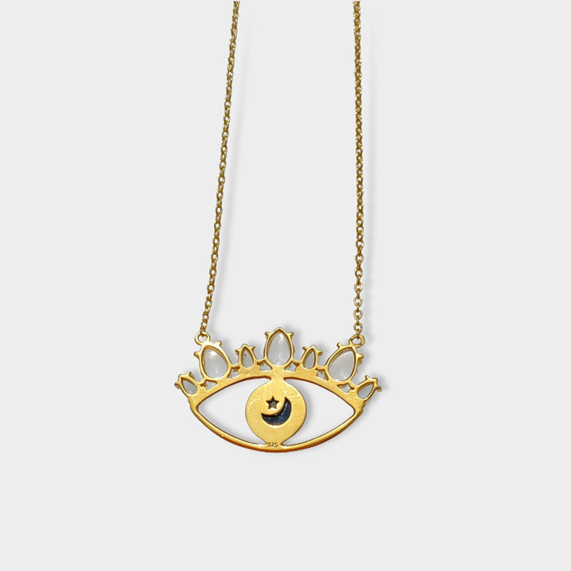 The Star Tarot Card - 16K Gold Plated & Enamel Charm Necklace