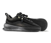 Aero Black Trainers, showing embossed LVR sole.