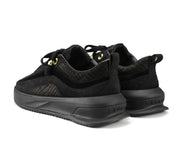 Pair of Aero Black Trainers back LAVAIR logos