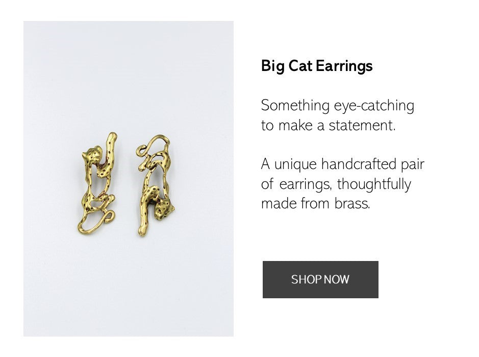 Shop the Big Cat Earrings Here Now | AFRENAI