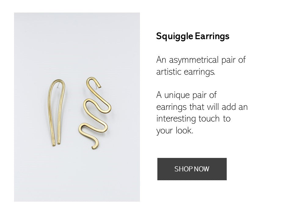 Shop the Squiggle Earrings Here Now | AFRENAI