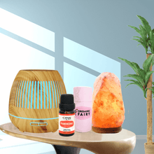 3 in 1 Vitality Diffuser , Salt Lamp & Essential Oil