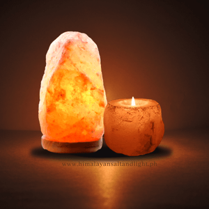 2 in 1 Himalayan Mini Lamp w/ candle holder