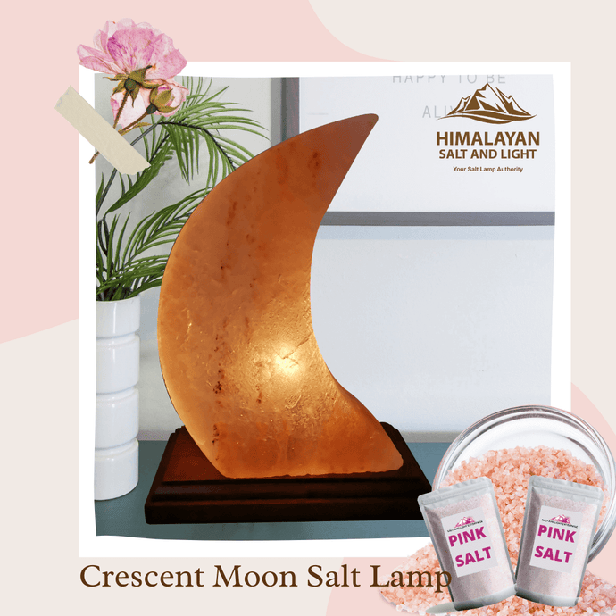 Crescent Moon Salt Lamp