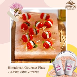 Himalayan Gourmet Plate -  for serving , grilling , cooking salt plate .