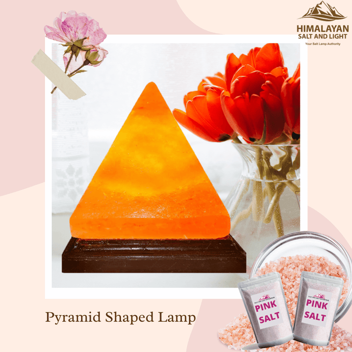 Pyramid Shape Salt Lamp