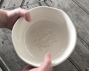 Provvista Classic - Organically Shaped Cereal Bowl - Monogram In-Stock