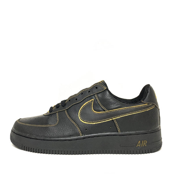 NIKE AIR FORCE 1 BLACK METALLIC GOLD
