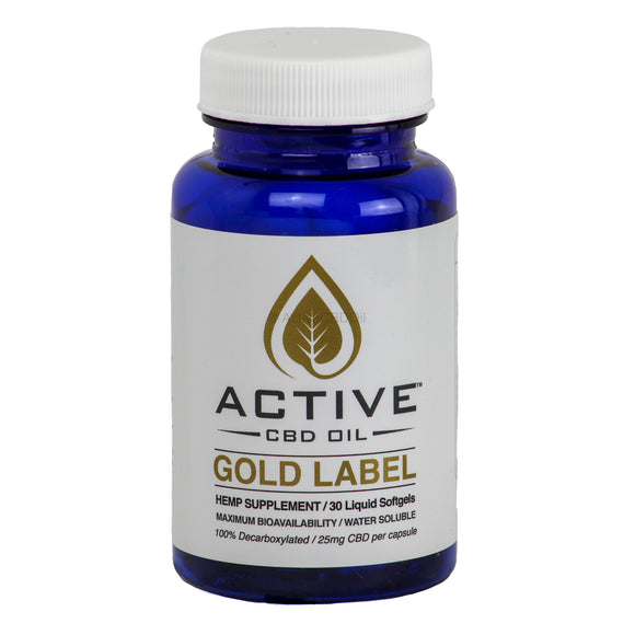 Active CBD Oil Capsules 30 Count