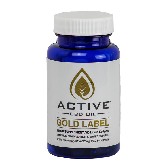Active CBD Oil Capsules 60 Count