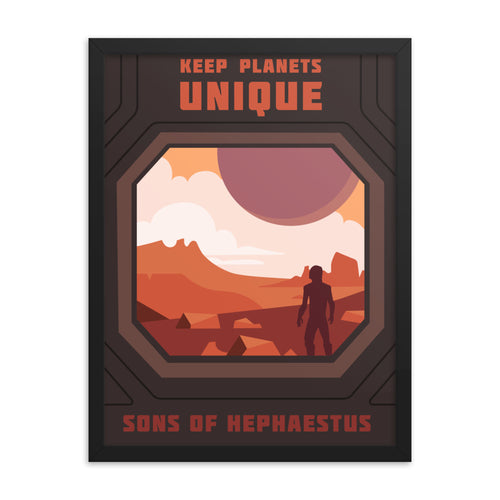 Framed Sons of Hephaestus Recruitment Poster