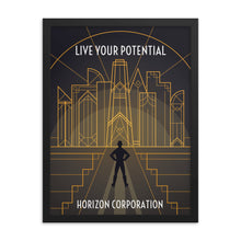 Load image into Gallery viewer, Framed Horizon Corporation Recruitment Poster