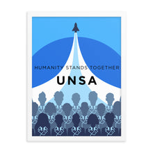 Load image into Gallery viewer, Framed UNSA Recruitment Poster