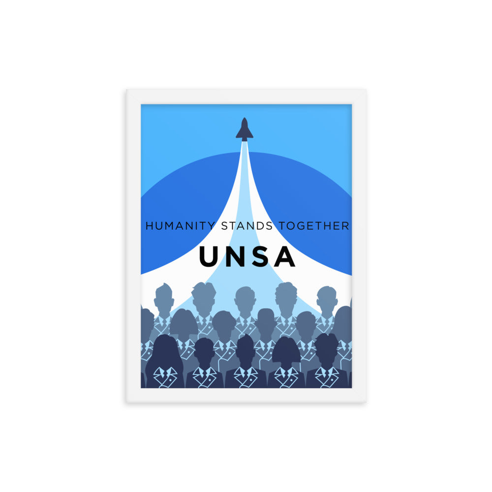 Framed UNSA Recruitment Poster