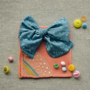Cotton Lawn Dobby Spot Bow // Bluebell