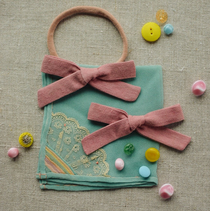Linen Mini School Girl // Carnation