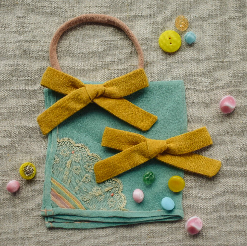 Linen Mini School Girl // Canary