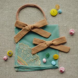 Linen Mini School Girl // Buff