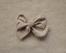 Load image into Gallery viewer, Cotton Dobby Spot Bow // Flint