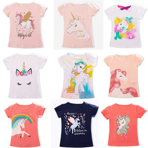 UK Stock Unicorn Toddler Kids Boys Girls Casual Summer Tops T-shirt Tees Clothes