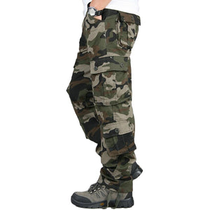 Men/'s Casual Overall Cotton Pockets Cargo Jeans Military Work Pants Long Trouser