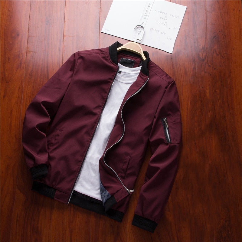 6730af5e26d NaranjaSabor Spring New Men s Bomber Zipper Jacket Male Casual Streetwear  Hip Hop Slim Fit Pilot Coat